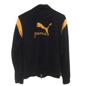 Vintage Puma Black Gold Spell Out M